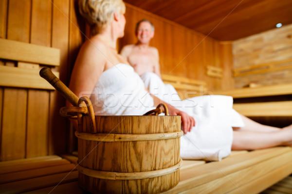 Sauna relaxante homem diversão Foto stock © Kzenon