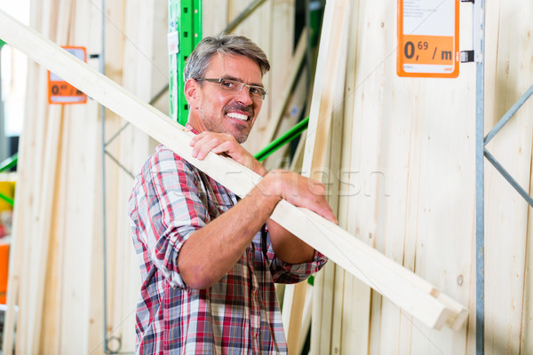 Customer in lumber department of hardware store Stock photo © Kzenon
