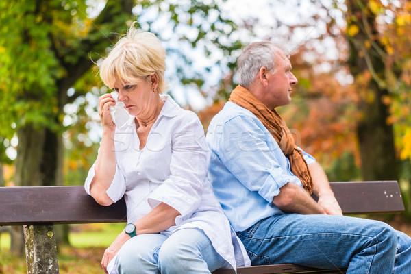 Starszy człowiek kobieta argument małżeński walki Zdjęcia stock © Kzenon