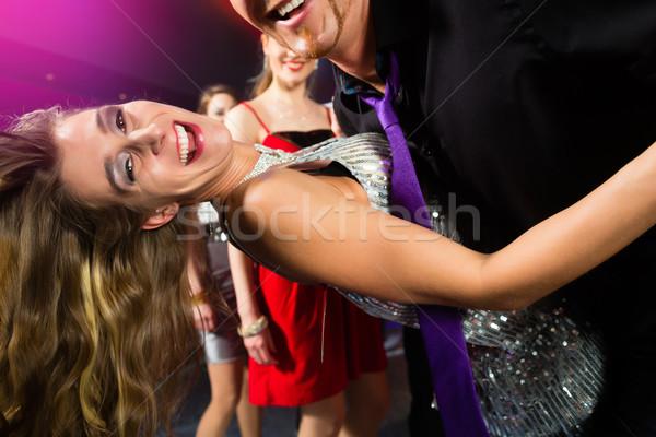 Buli emberek tánc diszkó klub fiatalok Stock fotó © Kzenon