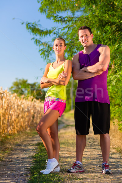 Man and woman running for sport  Stock photo © Kzenon