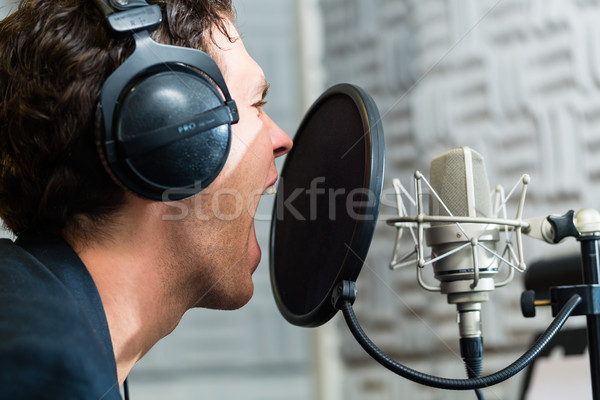 Male Singer or musician for recording in Studio Stock photo © Kzenon