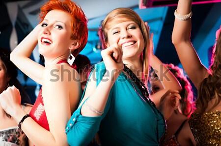 красивой женщины танцы дискотека клуба улыбка Сток-фото © Kzenon