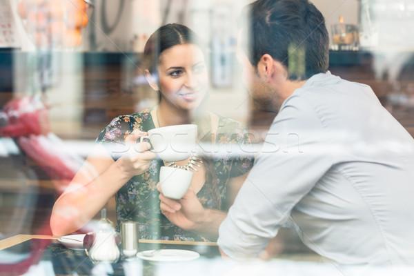 Stockfoto: Vergadering · tabel · drinken · koffie