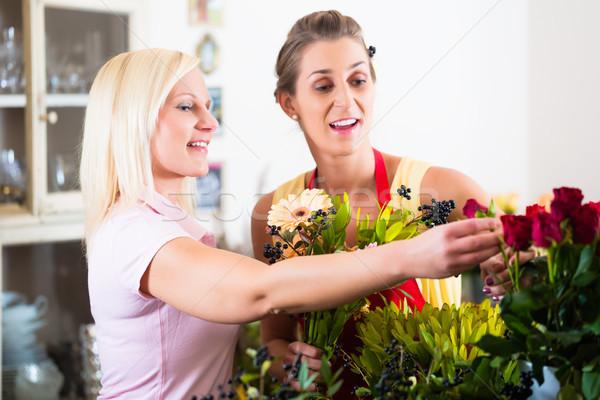 продажи женщину совет клиентов магазине Сток-фото © Kzenon