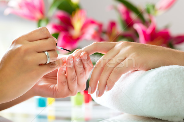 Stock fotó: Nő · manikűrös · manikűr · kezek · nők · szépség