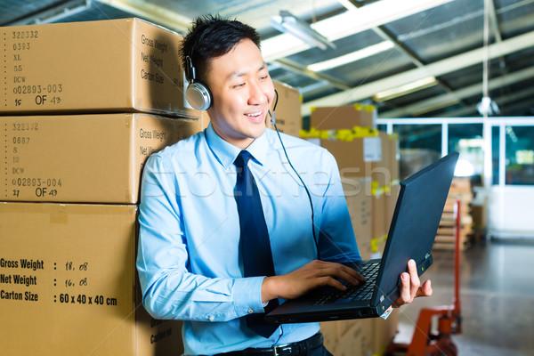 Customer Service in a warehouse Stock photo © Kzenon
