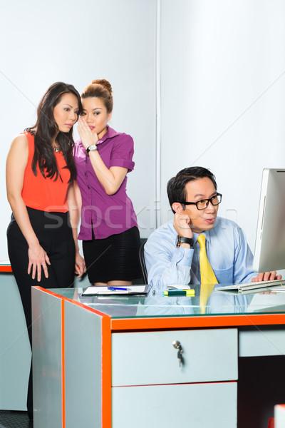 Asian Women bullying colleague in office Stock photo © Kzenon