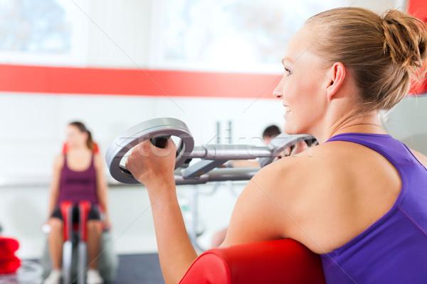 спортзал люди спортивных подготовки счастливым Сток-фото © Kzenon