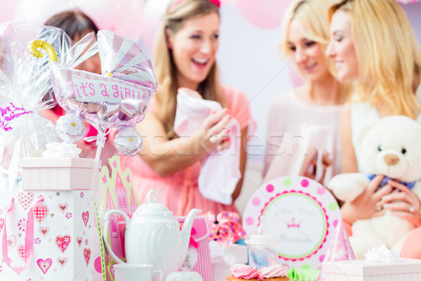 Best Friends on baby shower party celebrating  Stock photo © Kzenon
