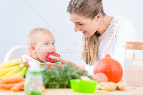 Portrait of a cute and healthy baby girl looking with curiosity  Stock photo © Kzenon