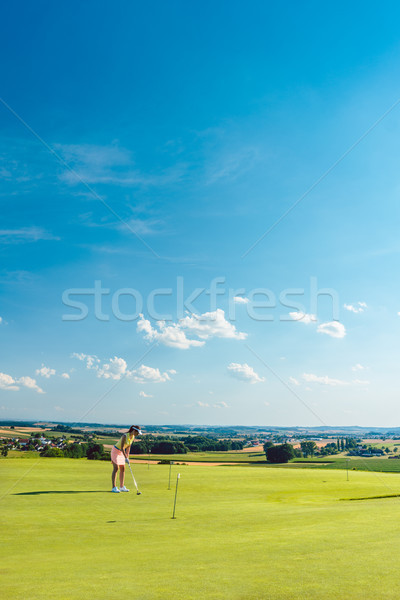 Determinato golf erba formazione Foto d'archivio © Kzenon
