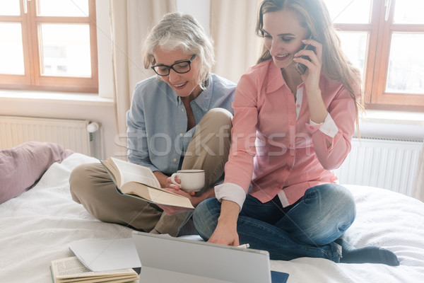Mother and daughter leading the family business from home  Stock photo © Kzenon