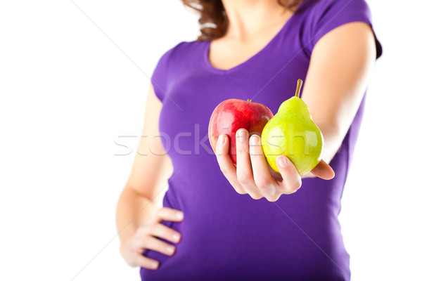 Dieta saudável mulher maçã pereira alimentação saudável corpo Foto stock © Kzenon