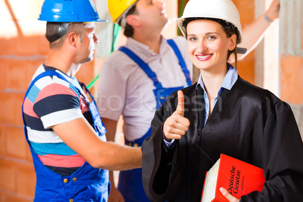 Reviewer or lawyer check building site for  defect Stock photo © Kzenon