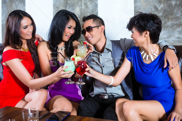 Asya adam kadın gece kulübü genç Stok fotoğraf © Kzenon