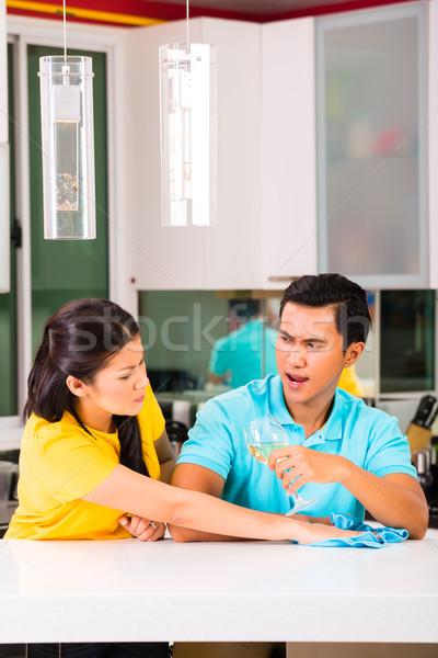 Asian couple having relationship difficulties Stock photo © Kzenon