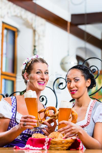 プレッツェル ビール 宿 食べ 飲料 ストックフォト © Kzenon