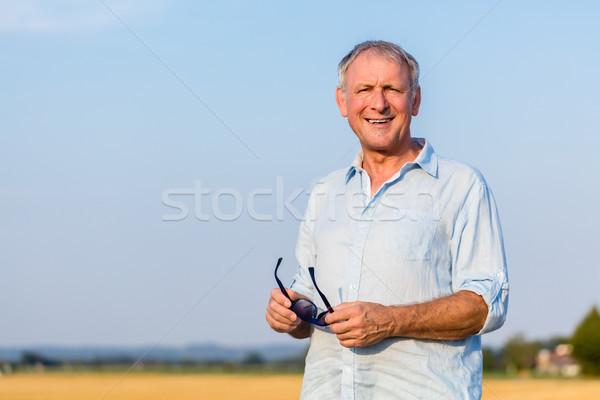счастливым старший человека пенсия лет Сток-фото © Kzenon