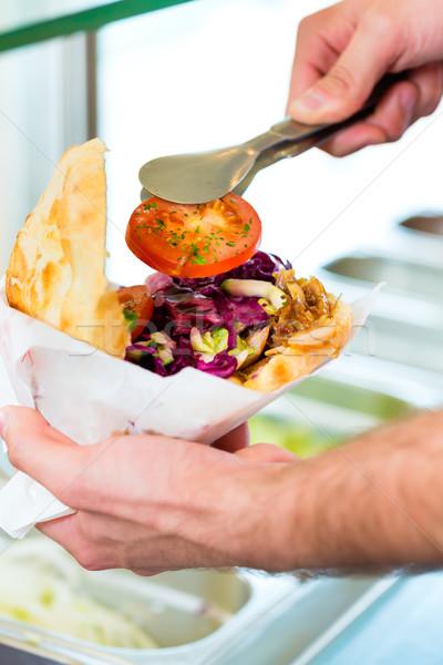 кебаб горячей свежие Ингредиенты дружественный турецкий Сток-фото © Kzenon