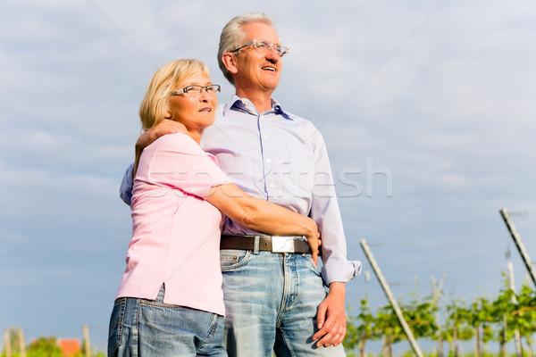Zdjęcia stock: Starszy · człowiek · kobieta · spaceru · strony · starszy · para
