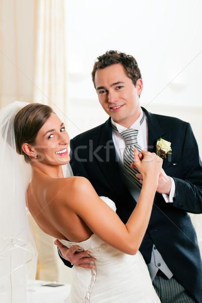 Gelin damat dans ilk dans düğün Stok fotoğraf © Kzenon