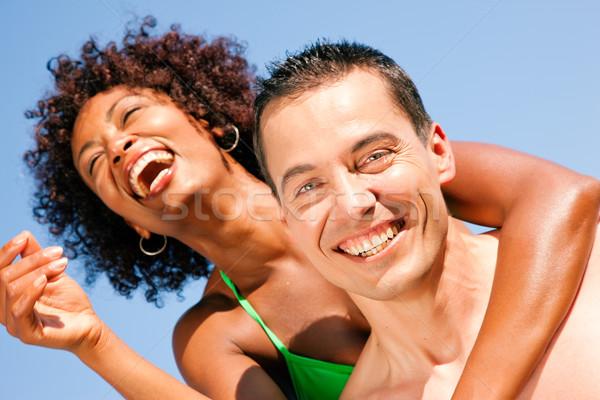 été bikini fille copain couple amour Photo stock © Kzenon