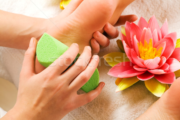 Feet massage with peeling Stock photo © Kzenon