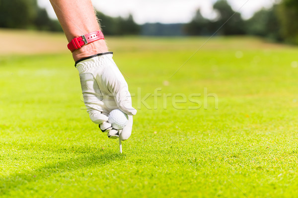 человека мяч для гольфа тесные выстрел стороны гольф Сток-фото © Kzenon