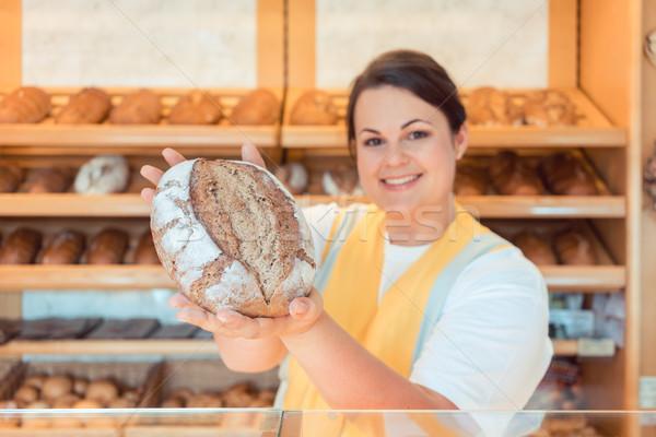 Bakkerij winkel presenteren brood potentieel koper Stockfoto © Kzenon