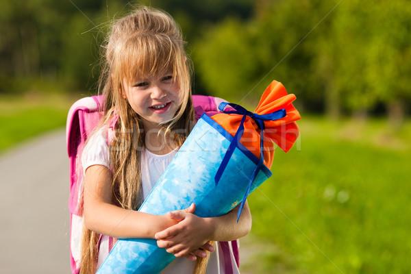 Child having first day at school Stock photo © Kzenon