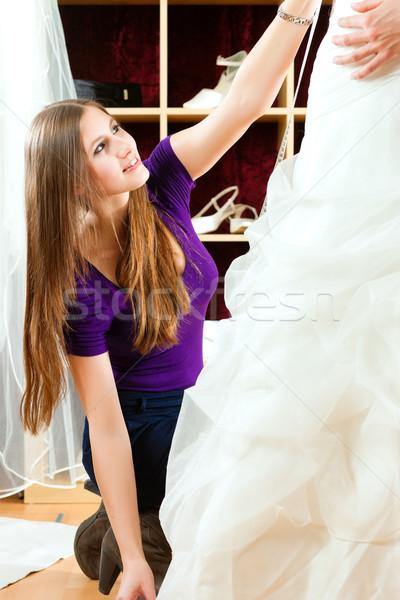 невеста одежды магазин свадьба Платья Сток-фото © Kzenon
