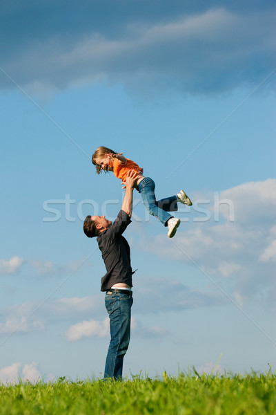 Family affairs - father and daughter Stock photo © Kzenon
