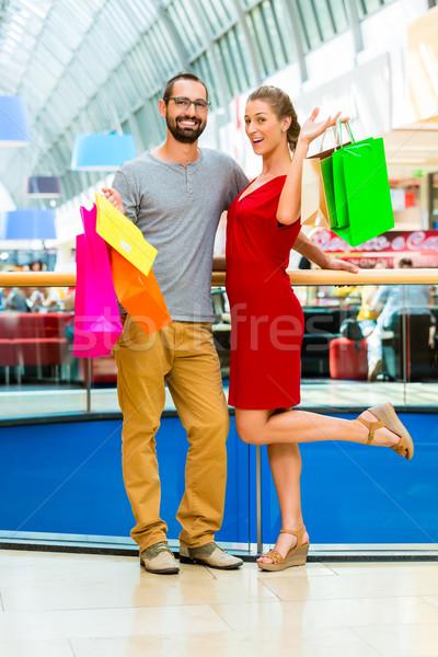 Adam kadın çanta çift alışveriş Stok fotoğraf © Kzenon