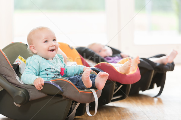 New-born babies in toddler group lying in baby shells Stock photo © Kzenon