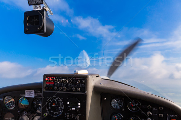 небе приборная панель спорт плоскости полет человека Сток-фото © Kzenon