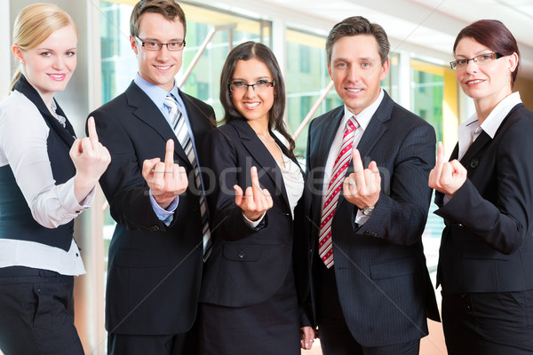 Business - group of businesspeople in office Stock photo © Kzenon