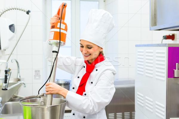 повар мороженым продовольствие процессор женщины гастрономия Сток-фото © Kzenon