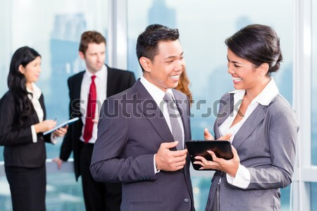 азиатских заседание служба портрет деловые люди Сток-фото © Kzenon
