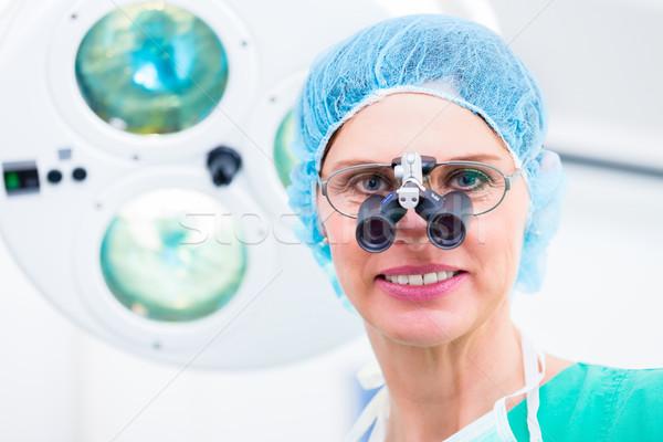 Ortopédico cirujano especial gafas sala de operaciones oficina Foto stock © Kzenon