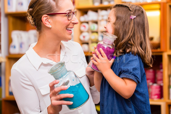 Family with pigment colors in store Stock photo © Kzenon