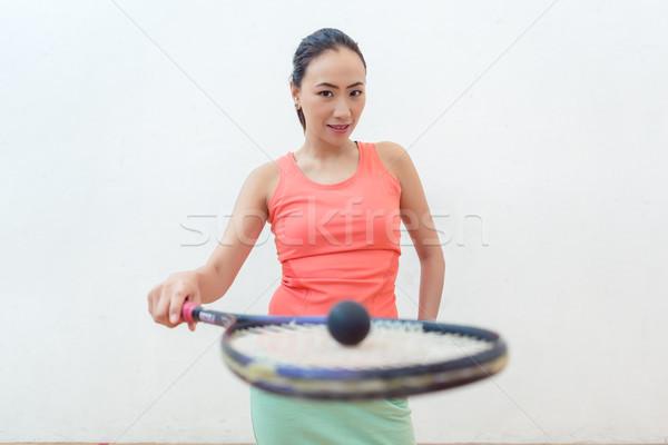 Caoutchouc creux balle nouvelle squash Photo stock © Kzenon