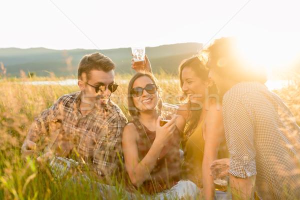 Gençler akşam ruh hali yaz gün Stok fotoğraf © Kzenon