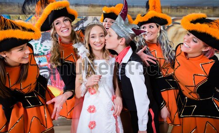Costumed girls with tricorns from carnival club during Carnival Stock photo © Kzenon