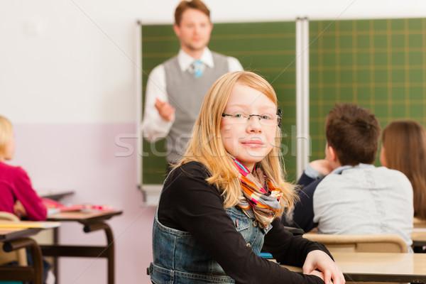 Educação professor alunos escolas ensino jovem Foto stock © Kzenon