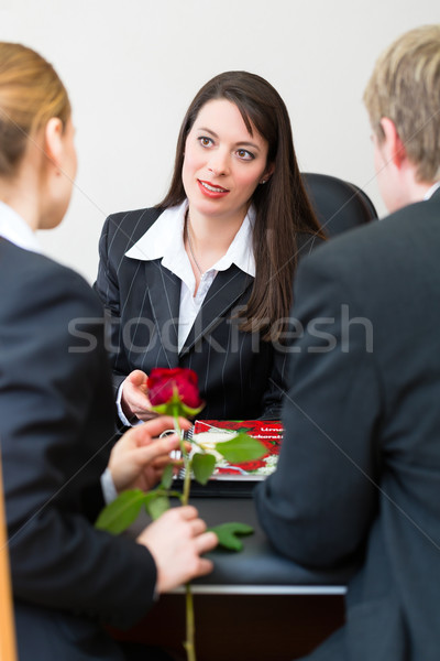 mortician with client comforting and advising Stock photo © Kzenon