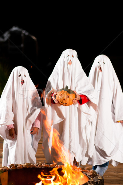 spooks at Halloween (focus on pumpkin) Stock photo © Kzenon