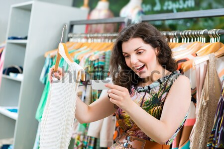 Köşe alışveriş doldurma yukarı depolama kadın Stok fotoğraf © Kzenon