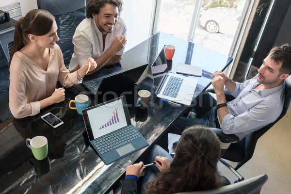 équipe réunion agence bureau affaires homme Photo stock © Kzenon