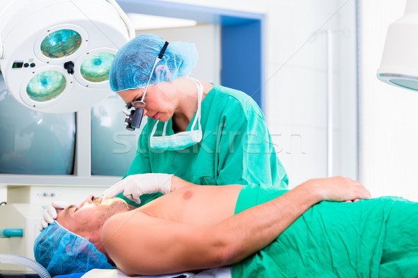 Orthopedic surgeon operating patient  Stock photo © Kzenon